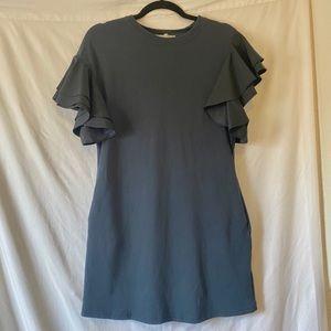 Hayden Ruffle Sleeve Dress
